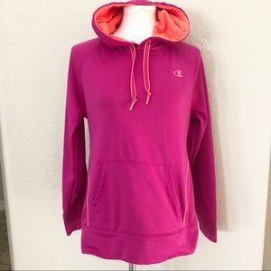 NWOT Champion  pullover hoodie pink & orange